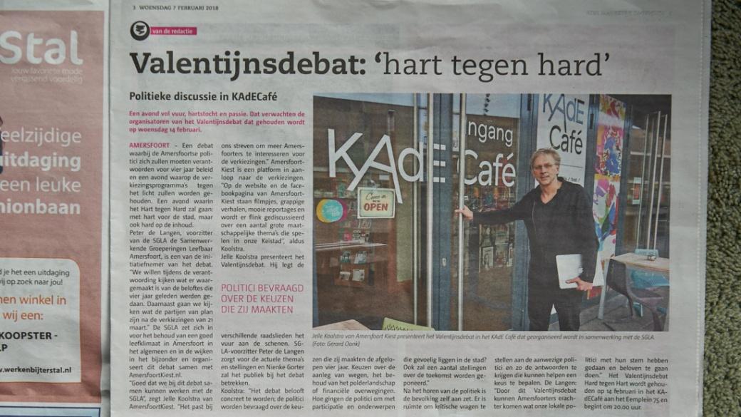 Jelle Koolstra bij Kade Cafe ©Gerard Oonk